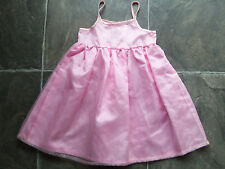 BNWT Baby Girl's Pink Sheer Polyester Party Summer Dress Size 0
