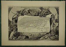 1856 MAP ~ FRENCH COLONY ALGERIA ORAN ALGER CONSTANTINOPLE