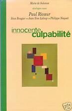 INNOCENTE CULPABILITE - PAUL RICOEUR / MARIE DE SOLEMME