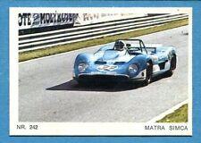 MOTO - Ed. Raf - Figurina/Sticker n. 242 - MATRA SIMCA -Rec