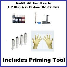 Ink Refill Kit Compatible To HP Deskjet D1460 D1470 D1520 D1530 With Primer Tool
