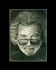 Jerry Garcia Grateful Dead singer drawing from artist art Image picture