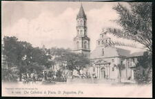 ST AUGUSTINE FL Cathedral & Plaza Rotograph Postcard
