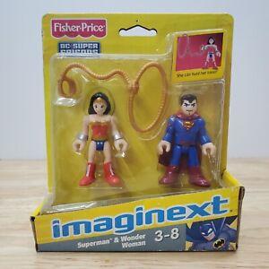 NEW FISHER-PRICE IMAGINEXT WONDER WOMAN & SUPERMAN DC SUPER FRIENDS