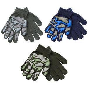 Boys Winter RJM Thermal Camo Gripper Magic Gloves : GL111