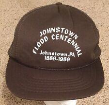 Vintage! Johnstown Pa Flood Centennial ~ 1989 Foam Hat Cap Mesh Trucker SnapBack