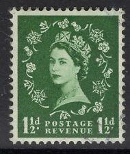 GB SG589 1958 1 1/2 d verte Fine Used
