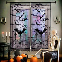 Halloween SpiderWeb Tablecloth Black Lace Bat Spider Party Table Home Decor