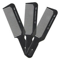 Professional Black Flat Top Stylist Salon Barber Clipper Cutting Hair Comb Tools