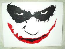 Canvas Painting Dark Knight Joker Face Smile Art 16x12 inch Acrylic