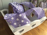 Purple Jute Ribbon, Burlap POLKA DOT OR PLAIN Bouquet,Wedding,Craft,Sewing 1Mtr