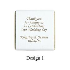 50 Personalised Chocolate wedding Favours