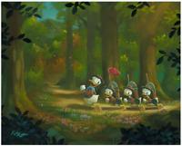 Disney Fine Art Limited Edition Canvas The Good Scouts-Donald Duck-Rob Kaz