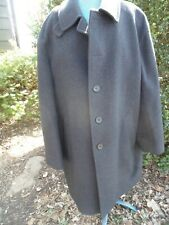 Mens Brooks Brothers 100% Wool Coat Charcoal Gray Button Front Italy Extra Large