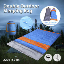 Double Sleeping Bag Bags Camping Hiking -10°C Tent Winter 220x150cm Outdoor AU