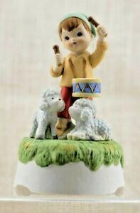 1982 Lefton Hand Painted Little Drummer Boy Musical Figure