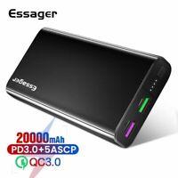 20000mAh Power Bank USB C PD Quick Charge 3.0 5A Powerbank External Battery