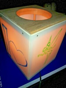 I Love Tinkerbell Bedside Lamp Night Light Hand Painted Tested