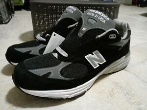New Balance 993 Made In USA Shoes Black Grey MR993BK Men's Size 11.5 NEW