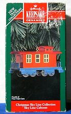 1992 Hallmark Ornament Christmas Sky Line Collection Caboose cast metal train