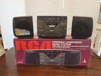 VINTAGE RCA AM/FM STEREO RADIO CASSETTE TAPE RECORDER BOOM BOX RP-7824A