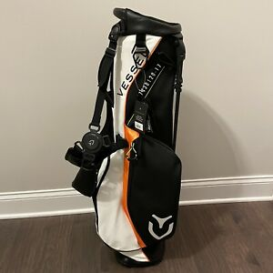 MINT Vessel VLX Stand Leather Carry Golf Bag Iridium White Black Orange SOLD OUT