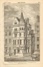 Scottish Provincial Assurance Offices Sackville St. Dublin, 1868 Antique Print