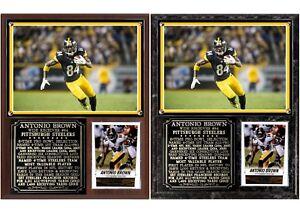 Antonio Brown #84 Pittsburgh Steelers Photo Card Plaque