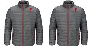 MLB Majestic Philadelphia Phillies Men's Train To Win Long Sleeve Puffer Jacket