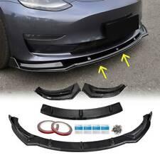 For Tesla Model 3 Sedan 2017-2020 Front Bumper Lip Spoiler Body Kit Carbon Fiber