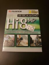 NEW Sealed 2-Pack FUJIFILM HI8 MP 120 Professional Grade Blank Video Cassette