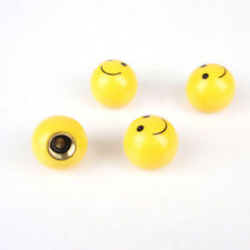 "4pcs ""SMILE FACE"" Ball Car Truck Bike Tire air Valve Stem Caps Wheel Rims PL"