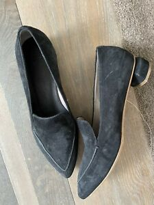 Officine Creative Black Suede Loafers Size 41
