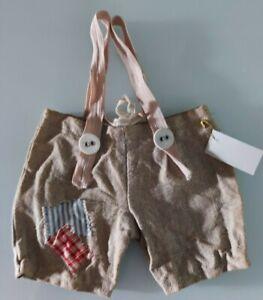 Wow: Shabby - Carrier Pants From Linen, For Approx. 25-28 CM Bears Handarbeit