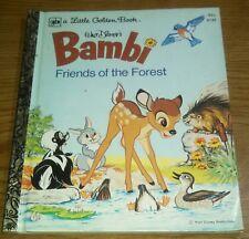"""A Little Golden Book Walt Disney's Bambi Friends of the Forest 1975 Edition """"L"""""""