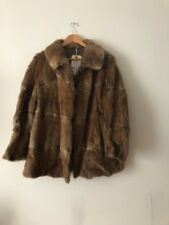 ladies black fur coat size 12