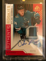 2018-19 SP Game Used Authentic Rookies Auto Patch Dylan Gambrell-San Jose 12/15