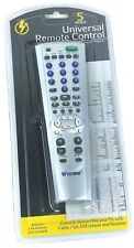 Universal Remote Control 5 Device - Silver TV,VCR,Cable/Sat, DVD Player/Receiver