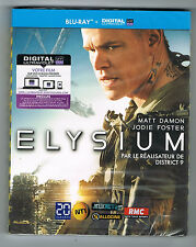 ELYSIUM - MATT DAMON & JODIE FOSTER - 2013 - BLU-RAY - NEUF NEW NEU