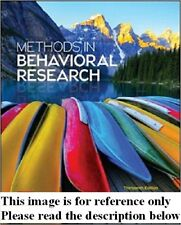 Methods in Behavioral Research 13th Cozby Int'l Ed Deliver 3-4 bus day/Insurance