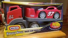 LITTLE TIKES RUGGED RIGGZ Red Race Car Hauler Kurt Busch 97 Racing Edition!!