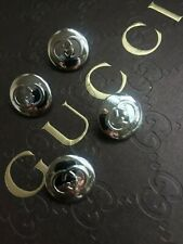 """GUCCI Buttons * (Set of 4 buttons) * Silver GG logo 5/8"""""""
