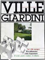 ville giardini 159 - casa nel verde settembre 1981 - sei ville europee