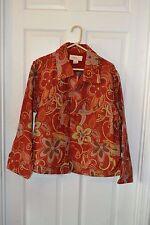 Vintage Anii Tapestry Jacket Size L Large  Red Floral Flower India Hippie