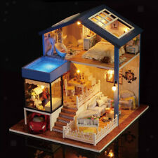 1:24 Casa delle bambole in miniatura in legno fai-da-te - Moderna