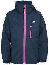 Trespass Raincloud Girls Hooded Waterproof Windproof School Rain Coat Jacket 9/10 NVT
