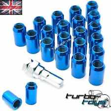 20x BLUE STEEL WHEEL TUNER NUTS M12x1.25 fit SUBARU IMPREZA WRX STI TURBO