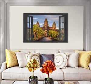 Cambodian Angkor Wat Over The Window Wall Poster