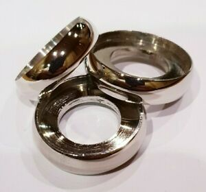 3 mixed NICKEL SILVER FLANGE RINGS 25mm, 26mm & 27mm for WALKING STICKS & CANES.