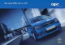 Opel Meriva OPC Prospekt 11/05 2005 Autoprospekt Auto brochure broschyr catalog